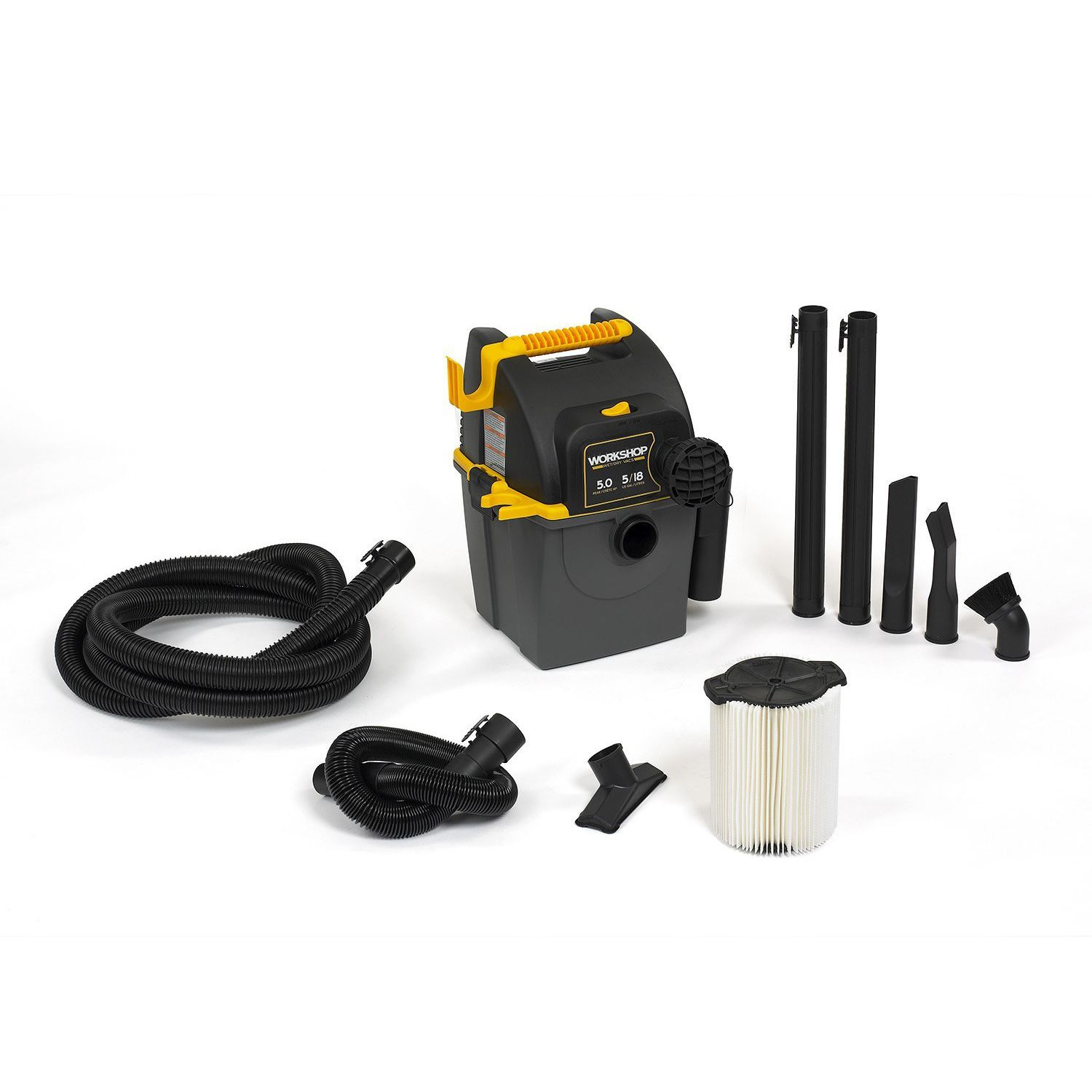 WORKSHOP WS0500WM Wall Mount Wet Dry Vacuum